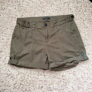 Sanctuary Womens Cargo Shorts Size 30 Army Green